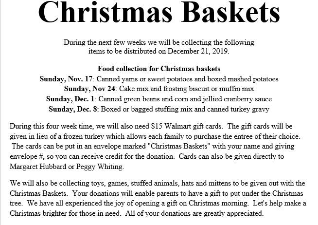 Christmas Baskets 2019